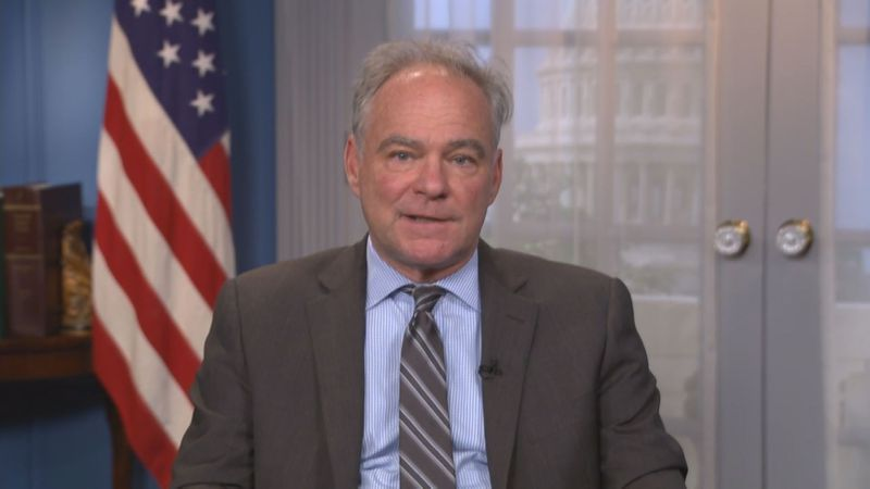 Sen. Tim Kaine says withdrawal of troops from Afghanistan is a challenging issue, but he...