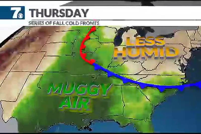 Once the front moves through dry air moves right back in.