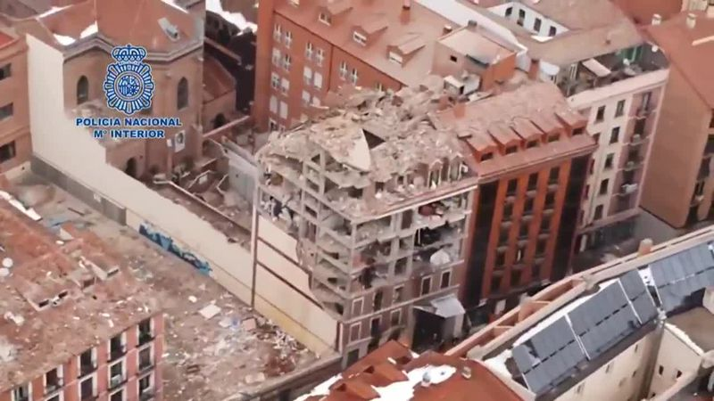 Several people are injured and at least three are dead after a gas explosion in Madrid....