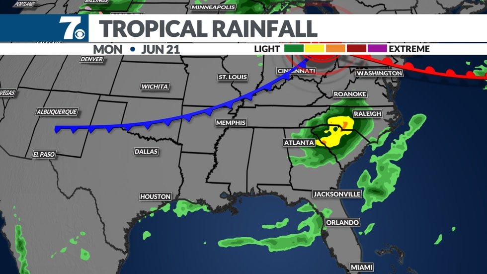 We could see some tropical rain in our area by early next week. It all depends n the track of...