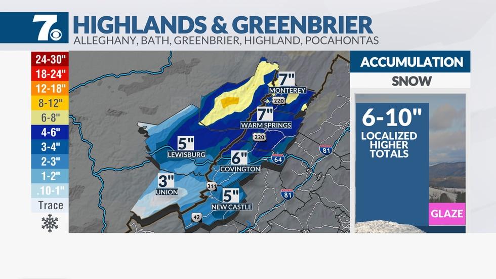 Snowfall forecast.