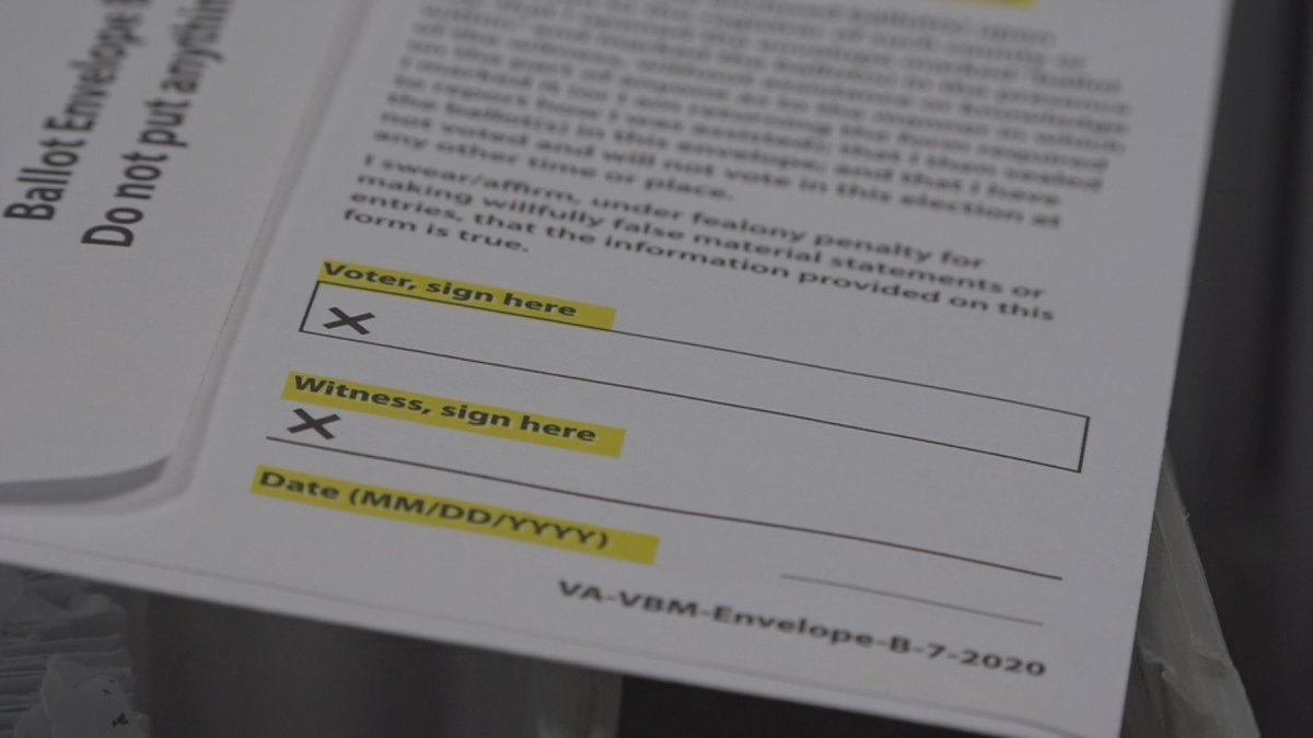 Officials are reminding absentee voters to make sure they have a witness signature.