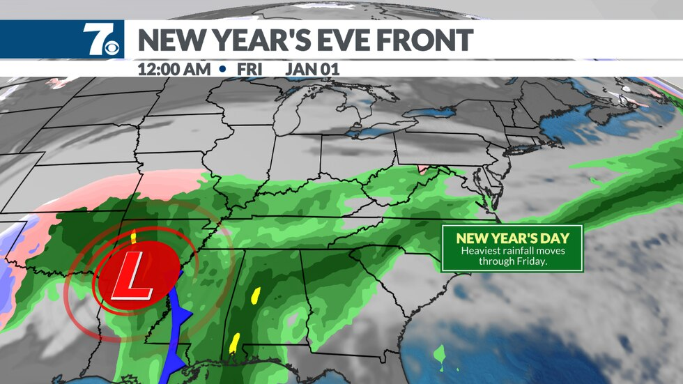 A storm system heads our way at the end of the week bringing another round of rain to the area.