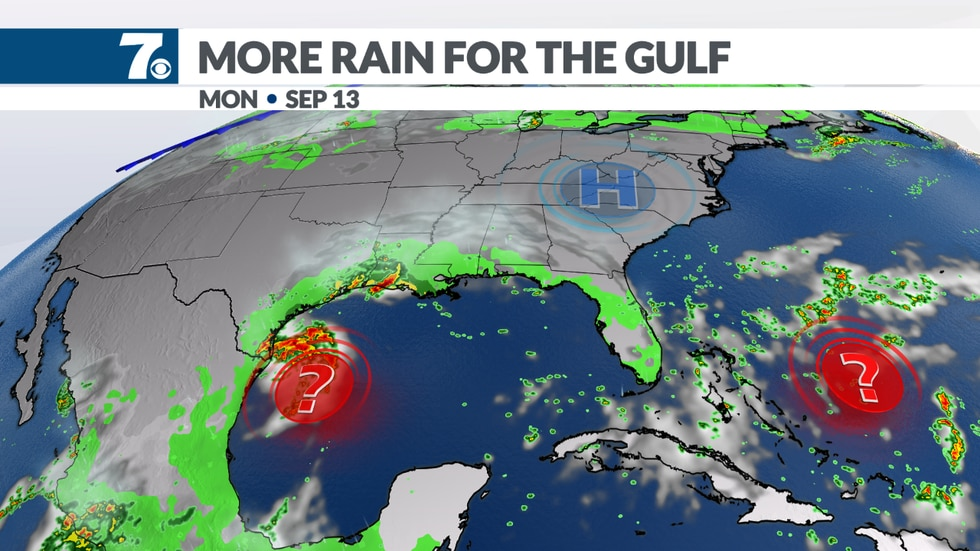 Tropics remain active and will bring more rain to the Gulf Coast.