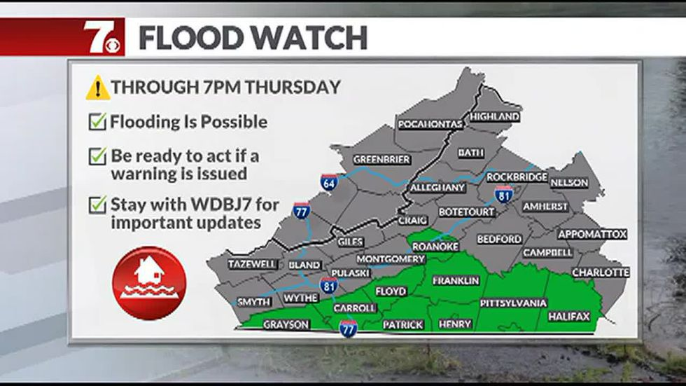 A flood watch has been issued as heavy rain heads our way.
