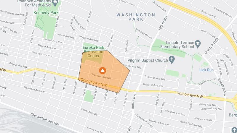 An accident has caused a power outage on Orange Avenue and the surrounding area.