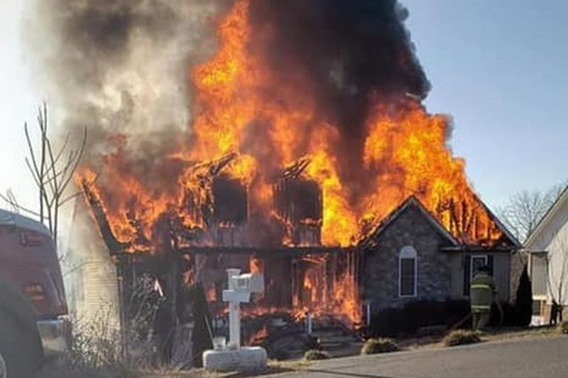 House destroyed by fire off Hardy Road in Bedford County