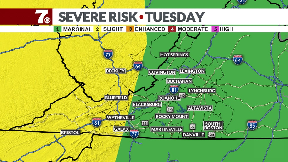 SPC outlook for Tuesday.