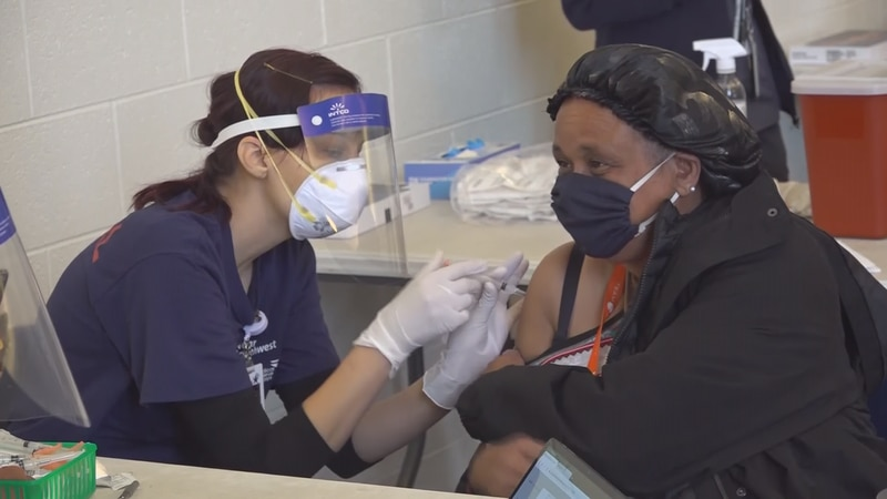 About 130 guests, staff and volunteers got their first vaccines at an event at the Rescue...