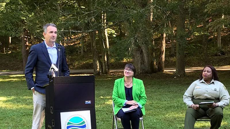 Governor Northam signs an agreement with the US Department of Agriculture to restore Green...