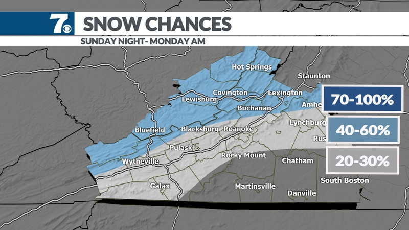 First measurable snow possible for those outside of moutnains.