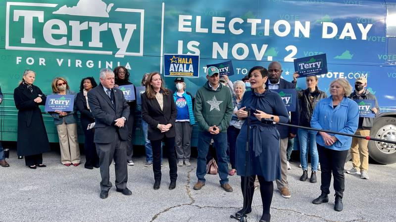 Virginia Democrats rolled into Roanoke with a Get Out the Vote Bus Tour.