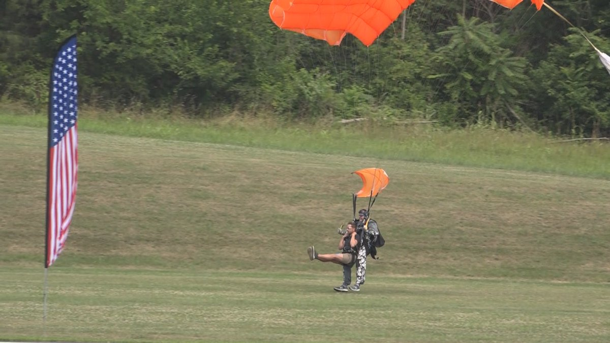 On Saturday the non-profit Heroes on the River kicked off a two day special skydiving event for...