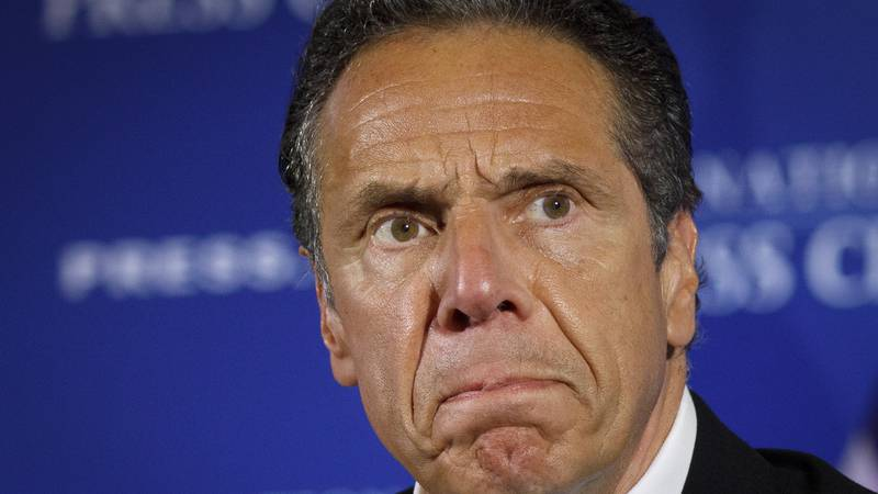 This Wednesday May 27, 2020 file photo shows New York Gov. Andrew Cuomo during a news...