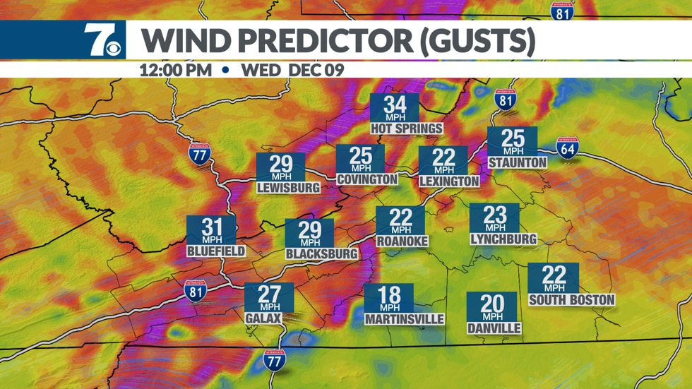 Gusty winds linger on Wednesday