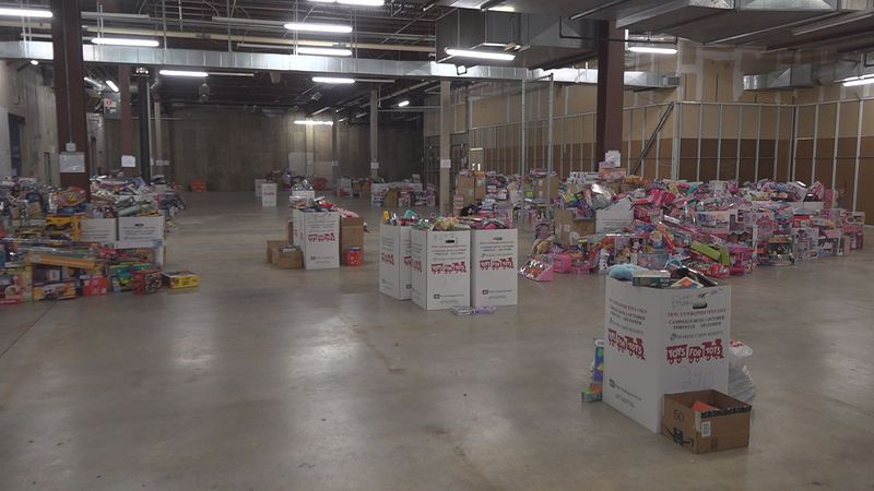 Toys are being collected the old Valley View Sears.