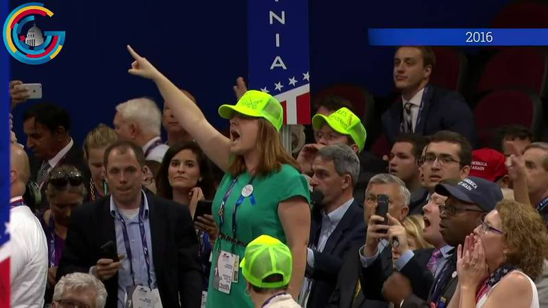 A rules fight broke out on the floor of the 2016 Republican National Convention in Cleveland.
