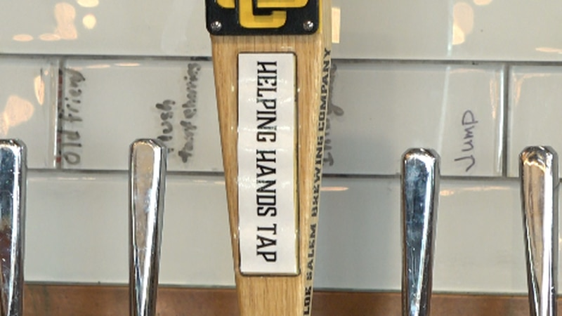 The Helping Hands tap is bigger than the rest of the taps at Olde Salem on purpose, and...