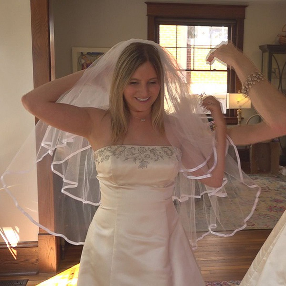 Women trade in casual clothes for wedding dresses at the vintage ...