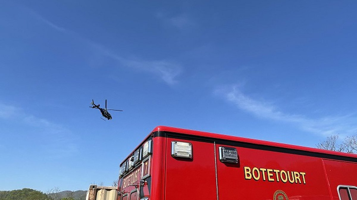 A man was flown for treatment April 27 after a fall from the Appalachian Trail in Botetourt...