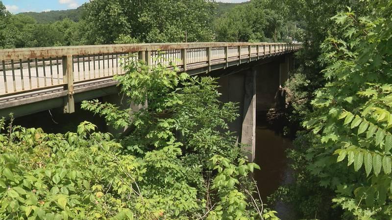 The Rayon Bridge across the Jackson River in Covington.