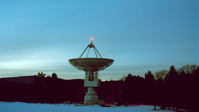 The 20m radio telescope at the Green Bank Observatory.