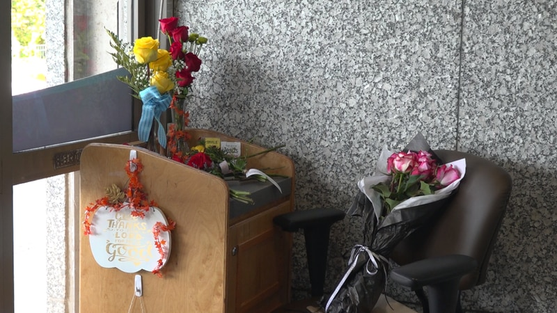 Mr. Martin's workstation at Carilion Roanoke Memorial Hospital