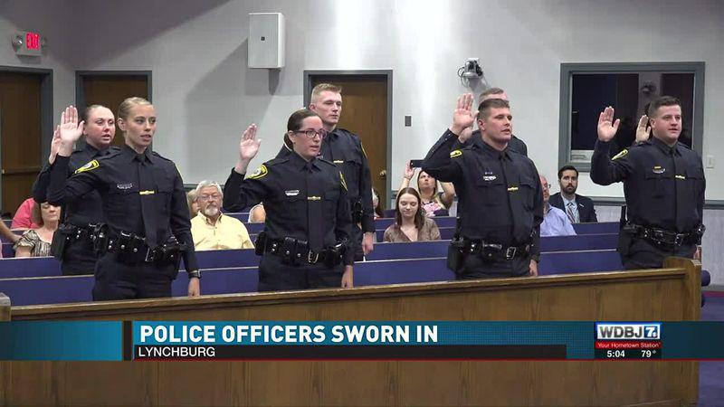 Lynchburg Police Officers Sworn In