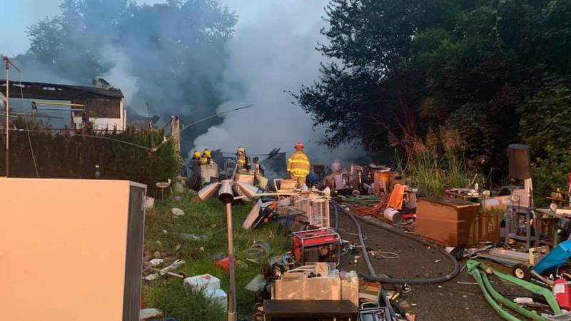 Fire crews responded to a home just after 4:30 a.m.