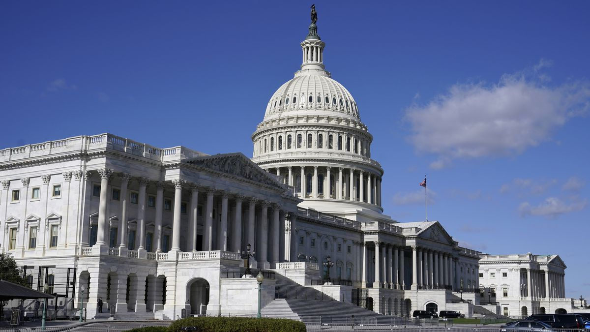 FILE - In this Nov. 2, 2020 file photo, sunlight shines on the U.S. Capitol building on Capitol...