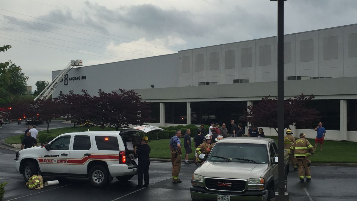 Firefighters responded to a fire at Arkay Packaging in Botetourt County on Tuesday, May 10,...