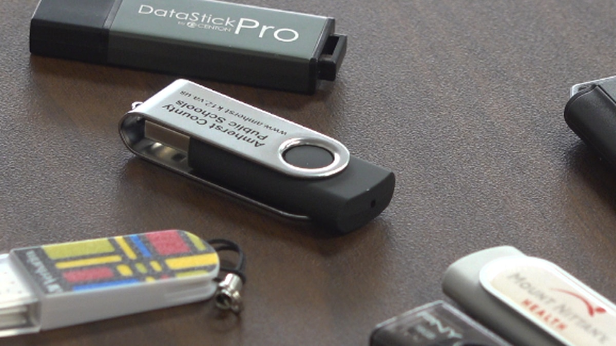 Flash drives were loaded with school-related information and distributed to grades 3-12. WDBJ7...
