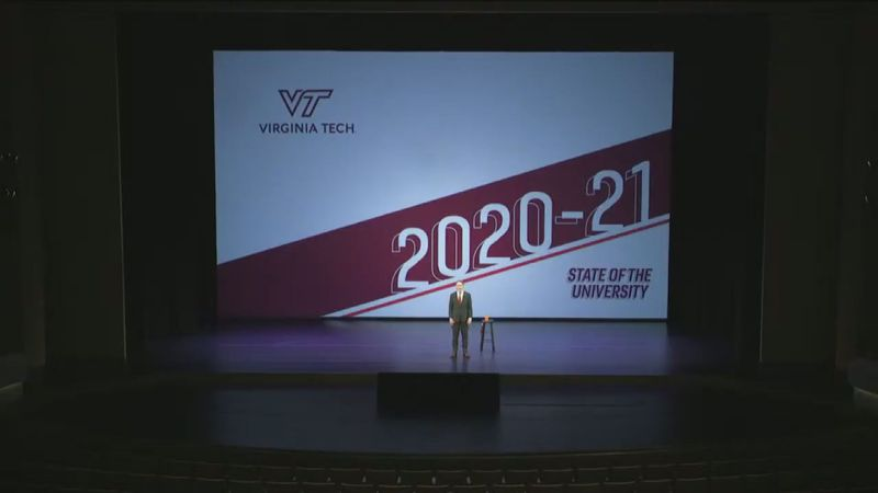 Virginia Tech President Dr. Tim Sands held his annual state of the university address focusing...
