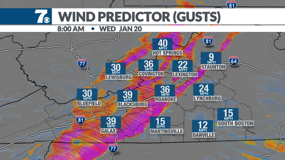 Winds may gusty to 30-40mph tonight into Wednesday afternoon. Stronger gusts are possible along...