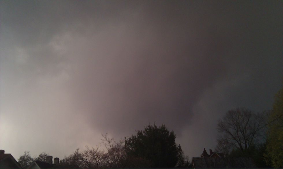 The only known photo of the 2011 tornado that touched down in the Town of Pulaski.