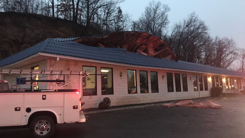 A mudslide has damaged the Southern Classic car wash on Orange Avenue.