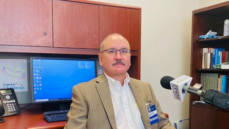 Carilion pediatrician Dr. Christopher Pierce says his office, and others have taken social...