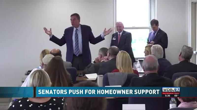 Senators Kaine, Warner Talk to Media