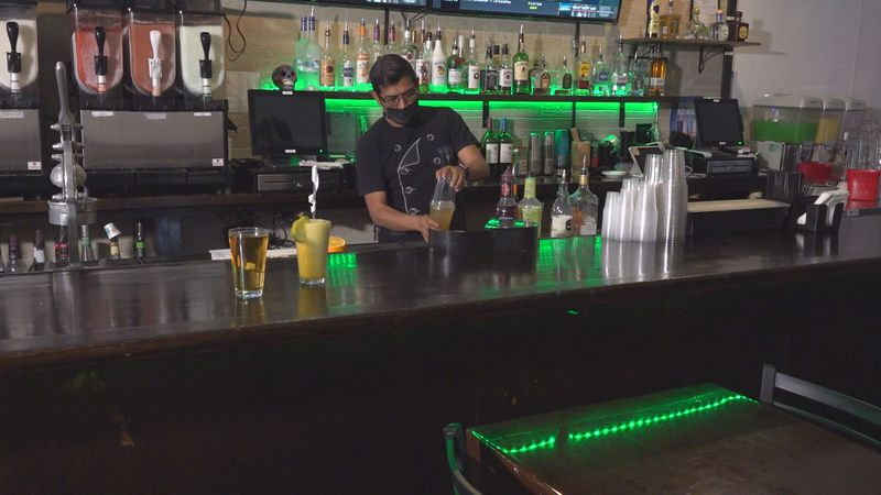 For the first time during the pandemic, bars and restaurants in Blacksburg were able to have...