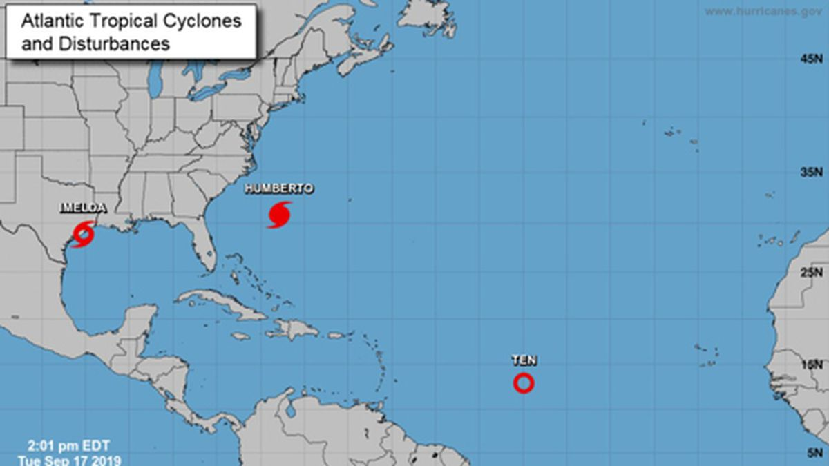 Tropical Storm Imelda has formed in the Gulf of Mexico. (Source: National Hurricane Center)