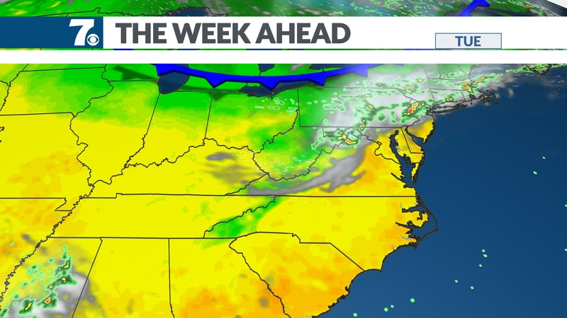 Several fronts move into the region with a late-week cool down.