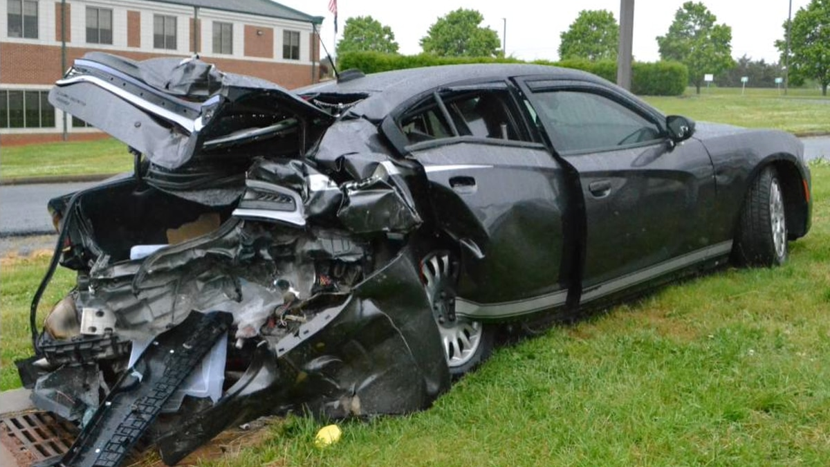 An accident involving a Bedford County Deputy. Photo courtesy BCSO.