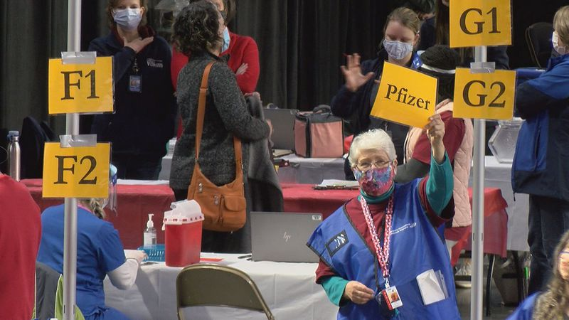 Pfizer vaccines were recently given out at a mass vaccine clinic at the Berglund Center.