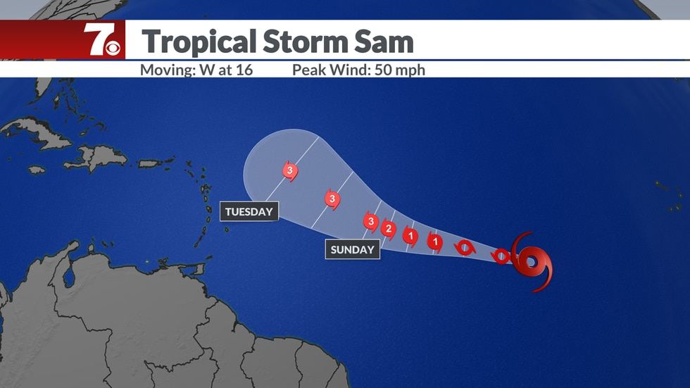 Sam is expected to become a major hurricane and will be watched closely.