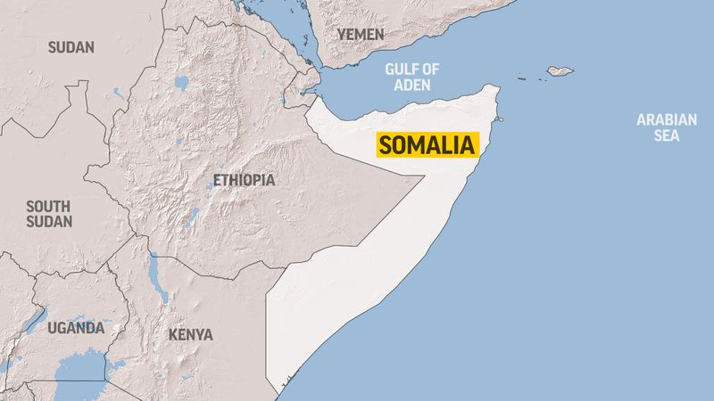 This map shows Somalia.