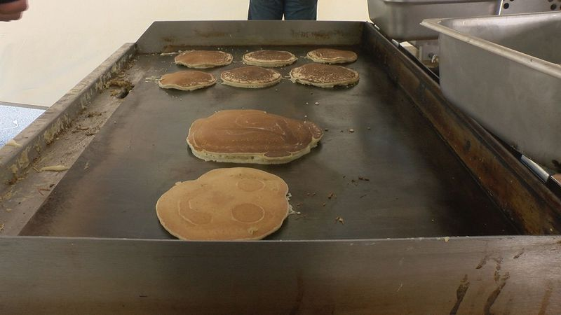 Kiwanis Club of Roanoke served up pancakes to the community.