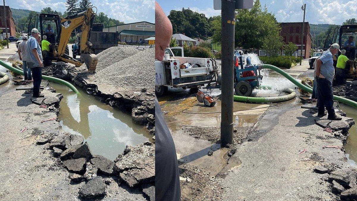 Photos of Pulaski water main break, courtesy Guy Smith
