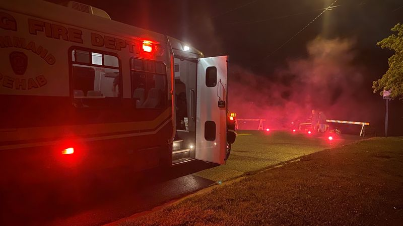 Fire and rescue respond to flooding concerns at apartment complex.