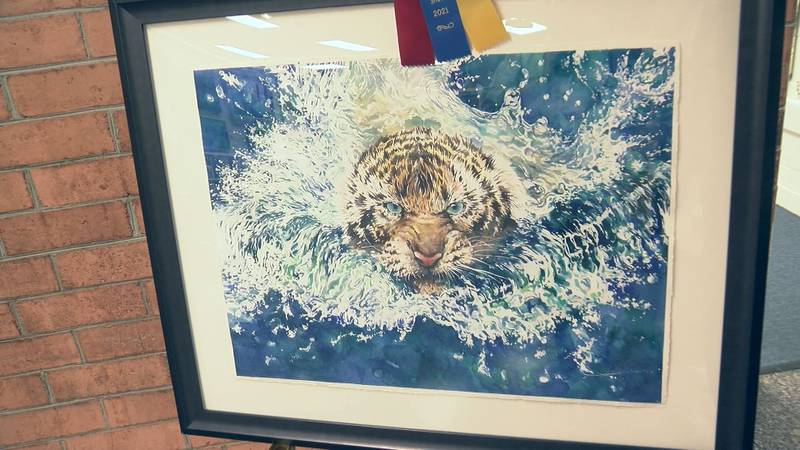 The winner of Best in Show at the Bath County Art Show.