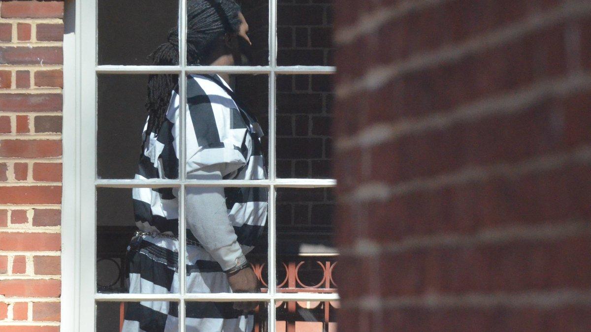 Jesse Matthew walks into Albemarle County court on Wednesday, March 2, 2016.